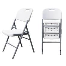 Cadeira dobrável em plástico metálico