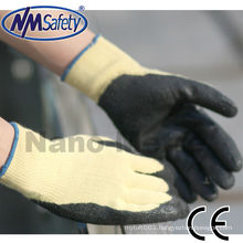 NMSAFETY 10 gauge aramid fibers knitted fire resistant gloves