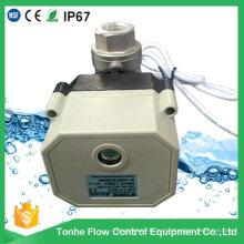 2 Way Dn15 12V 24V Моторизованный электрический электрический шаровой клапан из нержавеющей стали 1/2