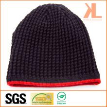 100% акриловая реверсивная красная полосатая трикотажная шляпа