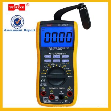multímetro automotriz digital, multímetro de rango automático WH5000C
