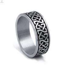Vintage Edelstahl Statement Silber Celtic Ringe