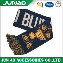 Acrylic jaquard scarf with custom design