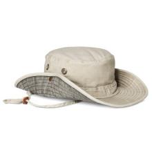 Benutzerdefinierte Baumwolle Eimer Floppy Hat mit String Großhandel