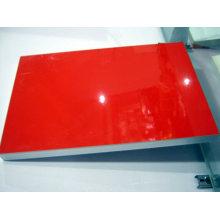 Placa UV de cor vermelha