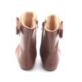 Handmade Leather Shoes High Heel Kids Booties