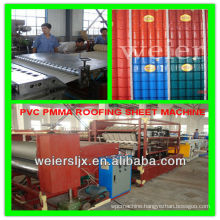 synthetic resin one layer multi layers corrugated roof making machine