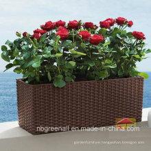 Outdoor Garden Furniture PE Rattan Flower Pots