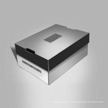 Caixa de papelão ondulado para calçados retangulares de papel kraft