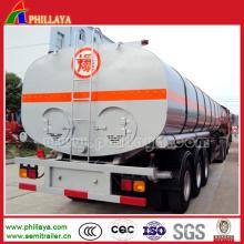 Tanque de acero inoxidable para remolque cisterna de combustible