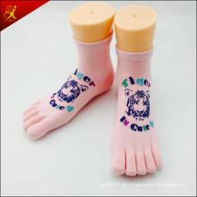 Meias de dedos personalizado 5 com logotipo