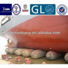 Durable levantar objetos pesados de goma airbag utilizado para el lanzamiento de la nave