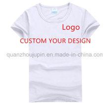 Custom Logo Print Men Women Round Neck Advertising T Shirt