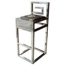 Mobília de aço inoxidável do hotel da cadeira do barstool