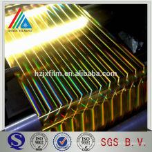 Recubrimiento de oro Película de alta metales de reflexión metalizada