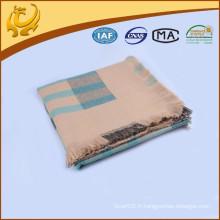 China Factory Classic Check Style en gros Tissus 100% en acrylique Pashmina