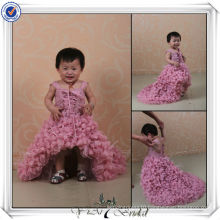 FF0004 Real sample Short Front And Long Back Baby Girl Wedding Dress