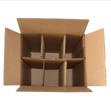 6 bottle cartons with dividers