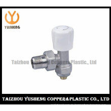 Nickelling Messing Heizkörperventil mit Kunststoffgriff (YS5002)