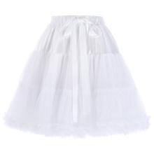 Белль некоторые из них имеют роскошный 3 слоя мягкий тюль сетка юбка Красный Кринолин Подъюбник для Ретро платья BP000226-2