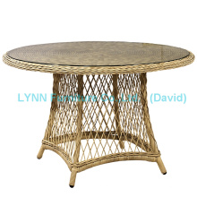 Mesa de jardim mesa redonda de vime móveis de vime