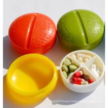 Portable Round Pills Box (54091-1)