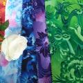 Chiffon Printed Fabric Chiffon Flower Designs