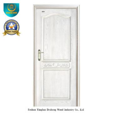 Porta de madeira maciça de estilo moderno para Interior (cor branca)
