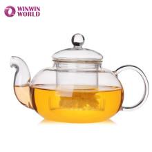 Théière en verre en gros pour la fleur de thé