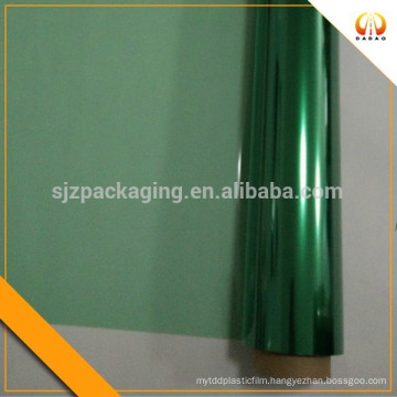 Green polyester film for printing
