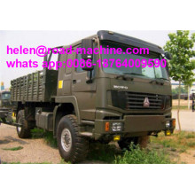 Semua Wheel Drive Vehicle Howo 4x4 Cargo Truck
