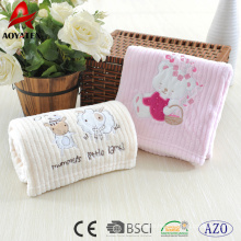 100% polyester high quality printing fleece baby blanket