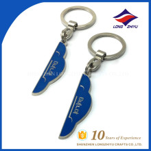 High quality casting advertising logo cloud keychain