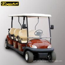 6 Sitze 48V elektrischer Golfwagen für Verkauf, gesetzliches elektrisches Auto der Straße, elektrisches Besichtigungsauto