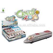 2014 новый смешной 20см Потяните назад игрушку конфеты поезд