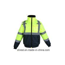 Modische Winter-Hochwertige Hoch sichtbare Sicherheitsjacke