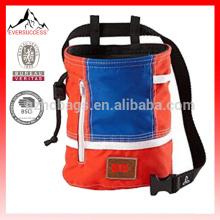 Bolsa de tiza escalada con cinturón y bolsillo con cremallera para escalada, gimnasia, levantamiento de pesas-HCC0001