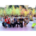 Event Party Throwing Power Holi w kolorze pudru