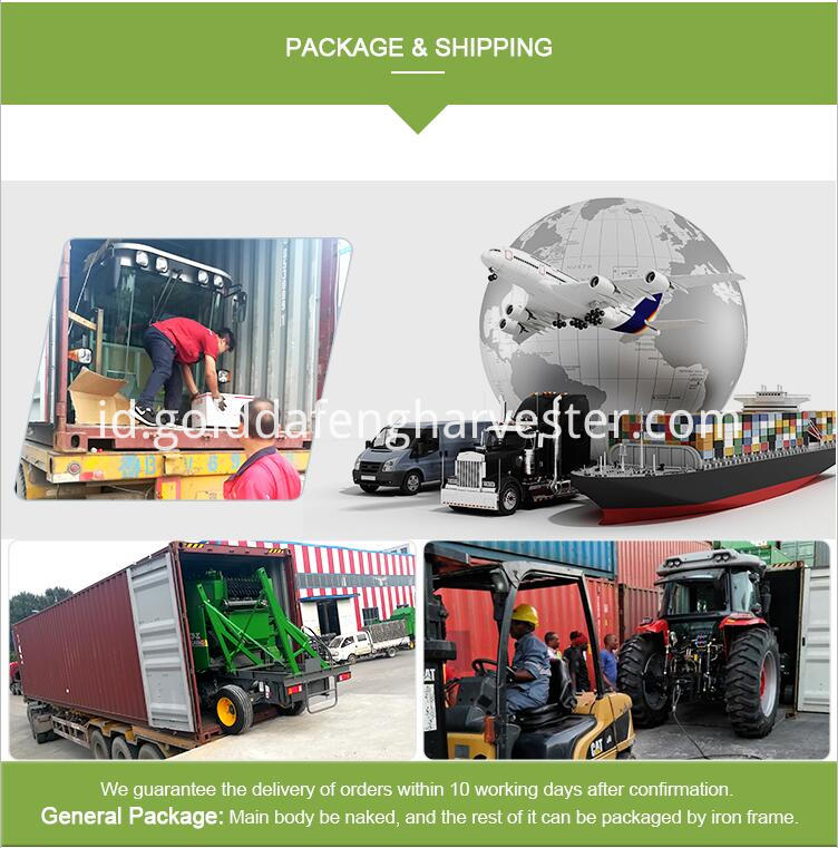 Automatic unloading grain full-feed wheat combine harvester package 01