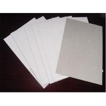 Panneau duplex enduit blanc 350GSM avec dos gris