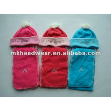 cute polar hat and scarf set for children