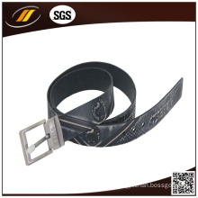 Office Emboss Real Leather Belt for Men