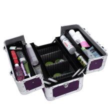 New Pink Aluminum Nagel Schönheit Fall Schönheit Fälle Vanity Cases Multi-Case Beauty Fall Box mit Fußböden