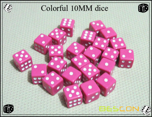 colorful 10MM dice