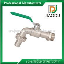 JD-7144 Níquel banhado Brass Bibcock com mangueira União