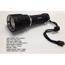 Scuba Rechargable Diving Backup Lights Hid Underwater Flashlight For Fishing