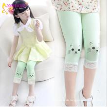 Korean All-passender Großhandel Kinder Mädchen Reiner Baumwolle Solid Plain Pants