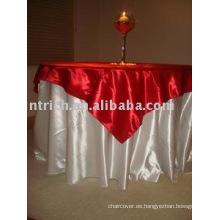 Mesa redonda mantel satén Hotel y recubrimiento, cubierta de tabla de banquete, lino