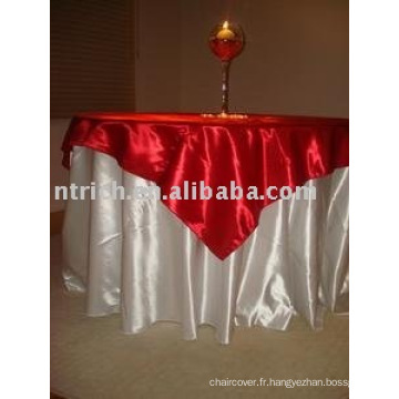 Linge de Table ronde nappe satin hôtel et superposition, couverture de table de Banquet,