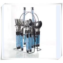 Utensilios de cocina 24PCS cuchillería de acero inoxidable Set cocina Steak cuchillo tenedores